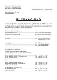 K U N D M A C HU N G - St. Ulrich bei Steyr