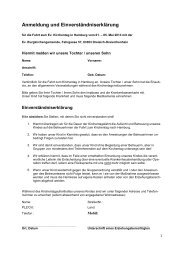 Anmeldung und Einverständniserklärung - Evangelische ...
