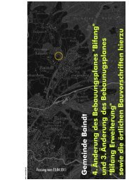 Bebauungsplan Bifang Erweiterung 4. Änderung ... - Gemeinde Baindt
