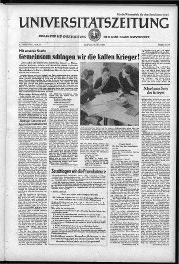 UZ 26 05 1960 - Universität Leipzig