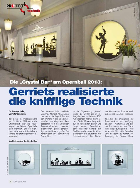 """""""Crystal Bar"""" am Opernring – Gerriets realisierte die knifflige Technik"""