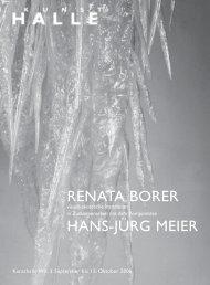 RENATA BORER HANS-JÜRG MEIER - KunstHalle Wil