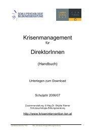 Krisenmanagement DirektorInnen - Schulpsychologie