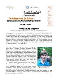 Bericht von Melanie Pfändler - Schweizerische Studienstiftung