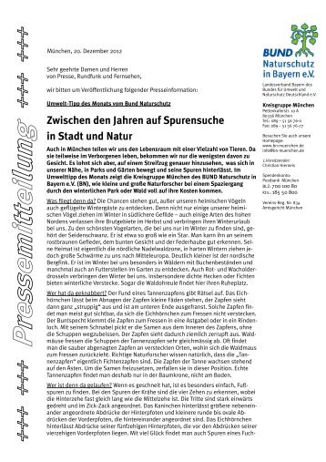 Tipps für Naturforscher - Bund Naturschutz