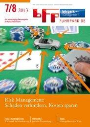 7/82013 Risk Management: Schäden verhindern, Kosten sparen
