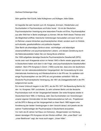 1 Gertraud Schlesinger-Kipp Sehr geehrter Herr Eizirik, liebe ...
