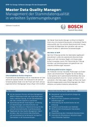 Master Data Quality Manager - Bosch Software Innovations