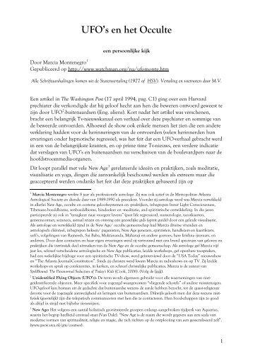 Ufos en het occulte - Marc Verhoeven.pdf - dewoesteweg.nl