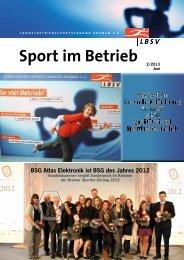 Verbandszeitschrift Sport im Betrieb - Ausgabe 2013/2