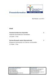 Pressedienst Juni 2013 - ThermeNatur Bad Rodach