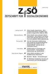ZEITSCHRIFT FÜR SOZIALÖKONOMIE 174/175.
