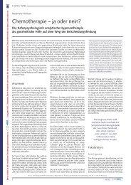 Heidemarie Hofmann: Chemotherapie - ja oder nein? - Deutsche ...