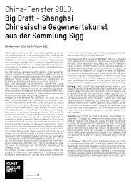 Saaltext Big Draft-Shangai (pdf) - Kunstmuseum Bern
