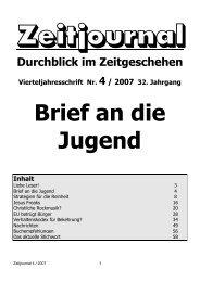 Brief an die Jugend - Dr. Lothar Gassmann