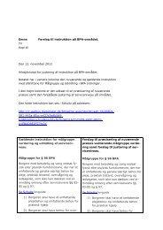 Emne Forslag til instruktion på BPA-området. Til Kopi til ... - LOBPA