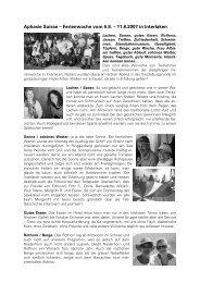Aphasie Suisse – Ferienwoche vom 5.8. – 11.8.2007 in Interlaken