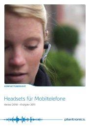 Headsets für Mobiltelefone