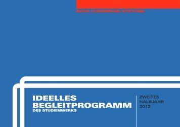 IDEELLES BEGLEITPROGRAMM - Rosa-Luxemburg-Stiftung