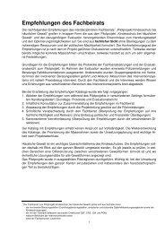 Empfehlungen des Fachbeirats zum Pilotprojekt ... - Kanton Bern