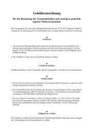 Gebührenordnung für die Benutzung der Gemeindehallen und ...
