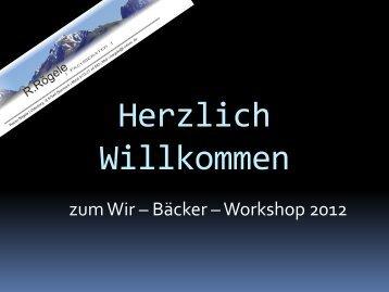 22.09.2012 Herzlich Willkommen Workshop 2.pdf - Unternehmen