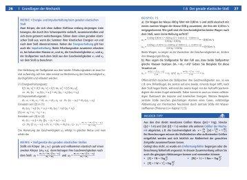 26 1 Grundlagen der Mechanik 1.6 Der gerade elastische Stoß 27