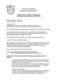 Niederschrift 28.02.2008 - Gemeinde Mühltal