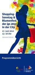 18 Uhr Shopping- Sonntag & Blumenfest der igs 2013 in der City
