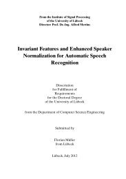 Invariant Features and Enhanced Speaker Normalization for ...