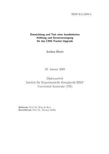 IEKP-KA/2009-4 - Institut für Experimentelle Kernphysik