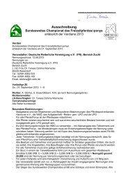 Ausschreibung Championat 2013 - Deutsche Reiterliche Vereinigung