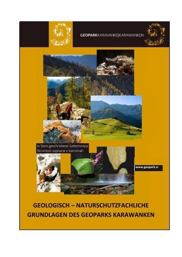 Geologisch – naturschutzfachliche Grundlagen des Geoparks