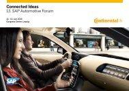 Connected Ideas 13. SAP Automotive Forum