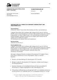 Vindpark Vänern Kraft AB - instruktion till ombud vid årsstämma