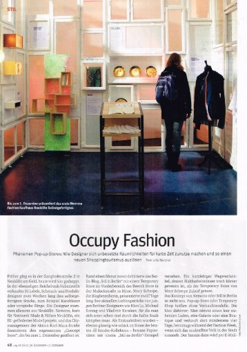 Occupy Fashion - Ines Lauber