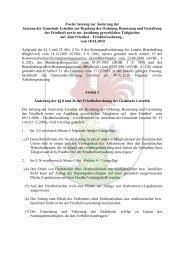 Zweite Satzung zur Änderung der Satzung der Gemeinde Letschin ...