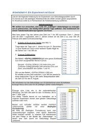 Arbeitsblatt 4: Ein Experiment mit Excel - idmthemen