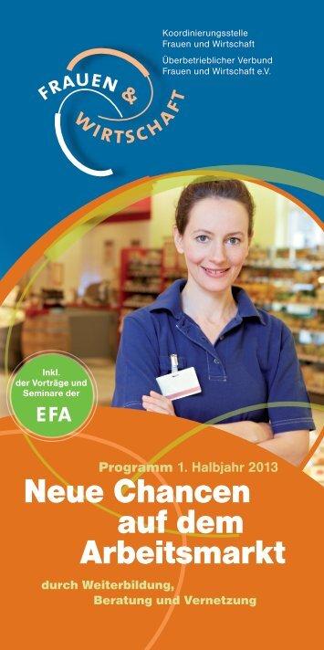 Neue Chancen auf dem Arbeitsmarkt - Koordinierungsstelle Frauen ...