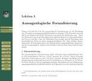 Aussagenlogische Formalisierung - Universität Bern