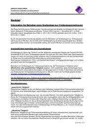 Merkblatt für Betreiber einer Großanlage zur Trinkwassererwärmung