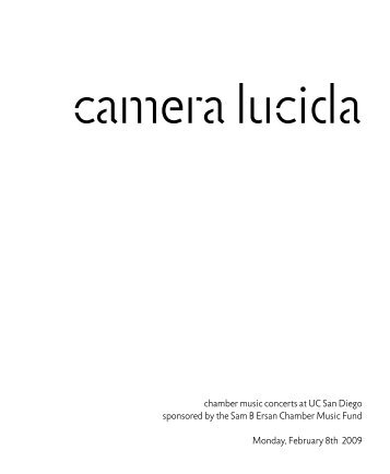 Camera Lucida - Department of Music - UC San Diego