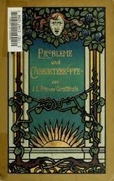 Probleme und Charakterköpfe : Studien zur Litteratur unserer Zeit