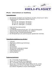 CHECKLISTE zur Ausbildung zum Privatpiloten PPL A LAPL A