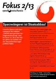 Fokus 2/2013 - vpod Ostschweiz
