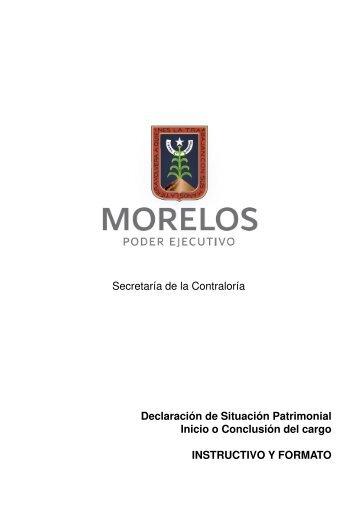 Declaración de Situación Patrimonial Inicio o Conclusión ... - Morelos