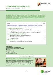 Erster Newsletter (1/2010) - Landesforsten Rheinland-Pfalz