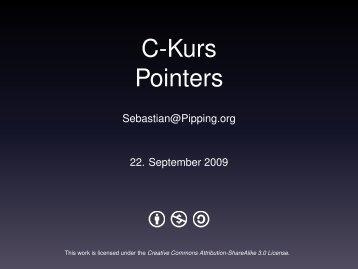 C-Kurs Pointers