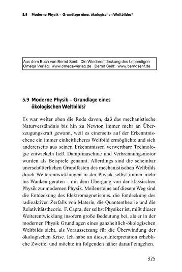 Moderne Physik – Grundlage eines ökologischen ... - Bernd Senf