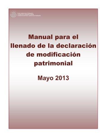 Manual para el llenado de la declaración de modificación ...